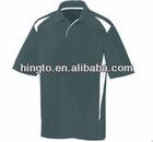 grey color collar t shirt