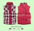 Girls reversible padded vest