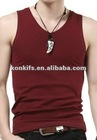 plain color mens tank top