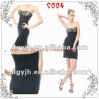 2012 New Strapless Formal Dark Blue Sequin Ladies Cocktail Dress Short