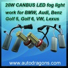 ADT 20W H8 LED fog light for BMW AUDI VW Golf 6