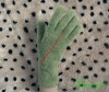 Novelty design Girl's Army green Velour Magic Glove