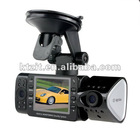 H.264 2.5 Inch TFT CMOS Dual Lenses Car Black Box/ Car Recorder/ Car DVR / Car Camcorder With Loop Recording & Motion Detection