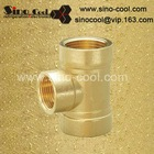 Reduce female tee brass pipe fitting