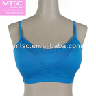 Girls seamless gym wear,sport bra with removable pads