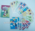 animals game card puzzle for paper