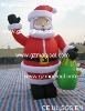 outdoor Inflatable santa claus with gift