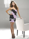 Sexy Lilac lace cocktail dress 2012 SP1066