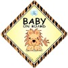 Lion Baby on Board Car Sign