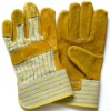 full palm cow leather stripe working glove