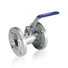 Stainless steel industrial flange end ball valve