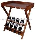 2011 brand new foldable wooden wine rack