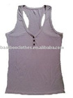 women's bamboo knit button vest