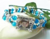 Fashion Alloy Charm Bracelet with photo frame CP03282