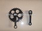 chain wheel and crank