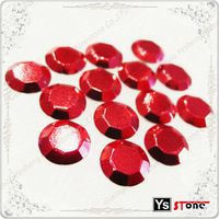 C239 Red 4mm hot fix rhinestud on jeans