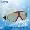 Swimming mask for adults with rubberized treatment