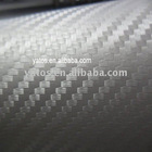 1.52M Width With Air Free Bubbles Silver Color 3D Carbon Fiber Sticker