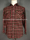 2012 yarn dyed cotton men's flannel shirt