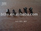 Titanium screw---Slotted countersunk flat head screws