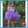 Lavender lace feather tutu dress for kids