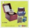 Wood game: bingo set with iron cage