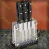 Acrylic knife rack