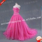 sweetheart neckline sheath beading pink or red wedding dress real SH-FS-R3