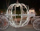good western style pumpkin horse carriage with LED lights /wedding supplies