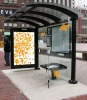 Cantilever Stainless Steel bus shelter freestanding/flush bonding