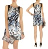Designer printed women party dress
