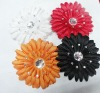 "4""artificial flameray gerbera flower hair clip"