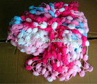 Pom pom Mulberry Fancy Yarn, Hand Crocheting Yarn made in China, Small Order Acceptable (POM003)