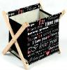 novel canvas painting, gift products, Magazine Rack/Basket