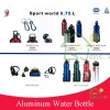 water aluminum bottle with hook