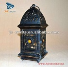 Metal lantern for candle