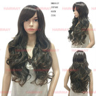 Heat resistant fiber synthetic fashion wig