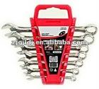 Fully polished 7PCS combination wrench set
