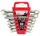 Fully polished 7PCS combination wrench set
