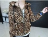 ladies fashion leopard winter coat