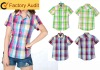 2012 New checker cotton Latest shirt designs for women