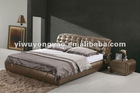 classic brown leather bed