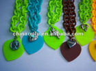 Colored Plastic Chain Link Necklace