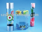 clear plastic cylinder tube with injection molding or gluing seamed