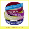 2011 fashional full color silicone wrist band with high quality