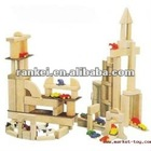 Wooden building block for children