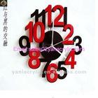 acrylic decorative wall clock wholesale