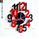 acrylic decorative wall clock wholesale