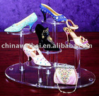 clear acrylic shoes display stand