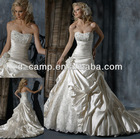 WD-798 Stunning beaded puffy ball gown cathedral/ royal train alibaba wedding dress sharara